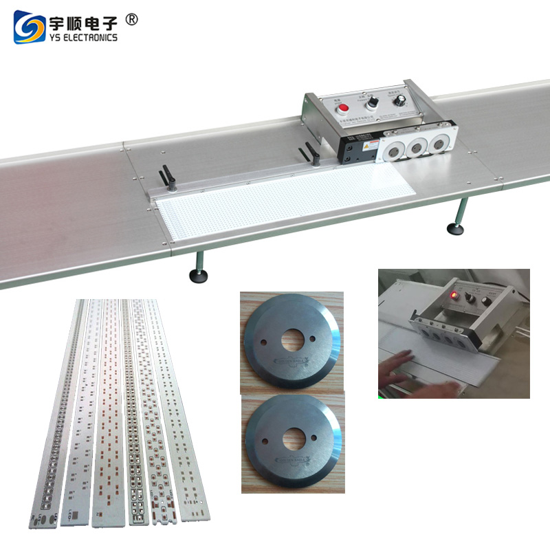 Pre Scoring PCB Separator Machine For LED Lighting MCPCB Strip Panel,Buy Multi Blades Depaneling,Pcb Boards Depaneling,Led Pcb Cutting Machine Product on pcbcuttingmachine.com
